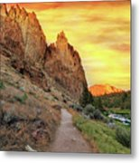 Hiking Trail At Smith Rock State Park Metal Print