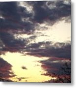 Hilltop Sunset One Metal Print