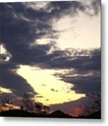 Hilltop Sunset Three Metal Print
