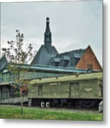 Historic Rail Terminal In Jersey City Metal Print