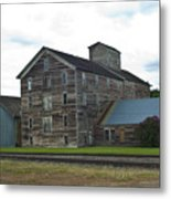 Historical Barron Wheat Flour Mill In Oakesdale Wa Metal Print
