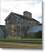 Historical Barron Wheat Flour Mill In Oakesdale Wa Metal Print