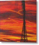 Hit Oil Metal Print