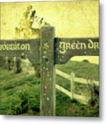 Hobbiton Signage Metal Print by Linde Townsend