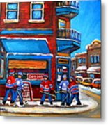 Hockey Game At Wilensky's Metal Print