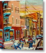 Hockey Game Fairmount And Clark Wilensky's Diner Metal Print
