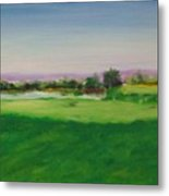 Hole 8 Mission Green Metal Print
