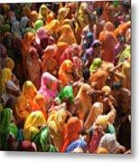 Holi India Metal Print by Tayseer AL-Hamad