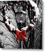 Holiday Lamp Post Metal Print