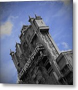 Hollywood Studio's Tower Of Terror Metal Print by AK Photography