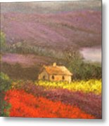 Home In The Hills Of Tuscany Metal Print
