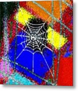 Home Sweet Spider Home Metal Print