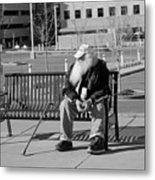 Homeless Man Metal Print