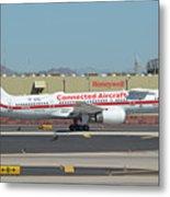 Honeywell Boeing 757-225 N757hw Phoenix Sky Harbor September 30 2017 Metal Print