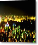 Hong Kong Harbor Abstract Metal Print