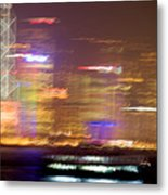 Hong Kong Harbor Abstracted Metal Print