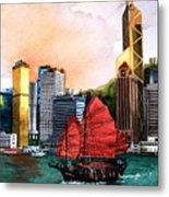 Hong Kong Metal Print by V  Reyes