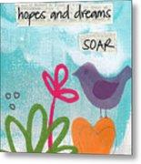 Hopes And Dreams Soar Metal Print by Linda Woods