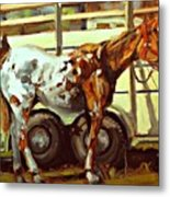 Horse And Trailer Metal Print