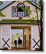 Horse Barn Metal Print