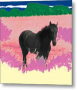 Horse In A Dreamfield 7 Metal Print