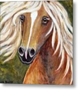 Horse Painting Blondie Metal Print