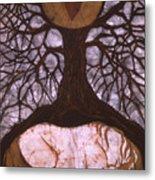 Horse Sleeps Below Tree Of Rebirth Metal Print by Carol  Law Conklin