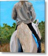 Horseback Ridding Metal Print