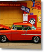 Hot Rod Bbq Metal Print by Perry Webster