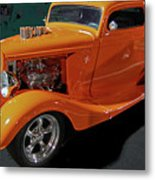 Hot Rod Orange Metal Print