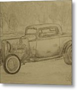 Hotrod 1934 Ford Coupe Metal Print