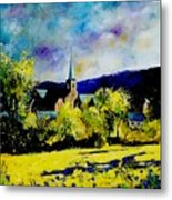 Hour Village Belgium Metal Print