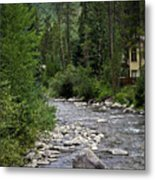 House By The Stream In Vail 1 Metal Print