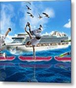 Hoverboarding Across The Atlantic Ocean Metal Print