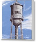 Hubbell Water Tower Poster Metal Print
