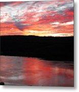 Hudson River Sunrise Metal Print