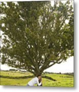 Hugging The Fairy Tree In Ireland Metal Print
