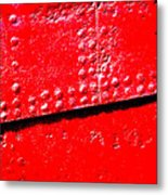 Hull Plate Abstract Enhanced Metal Print