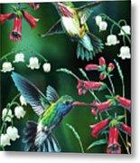 Humming Birds 2 Metal Print by JQ Licensing