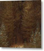 Hunter In The Forest  Metal Print