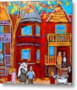 Hutchison Street Sabbath In Montreal Metal Print