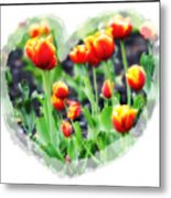 I Heart Tulips Metal Print