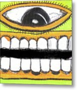I Like 2 Smile Ls Metal Print