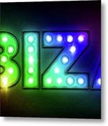 Ibiza In Lights Metal Print