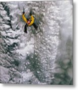 Ice Climbing In The South Fork Valley Metal Print by Bobby Model