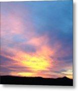 Ice Cream Sunset Three Metal Print