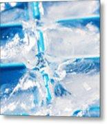 Ice Cubes Metal Print by Carlos Caetano