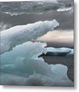 Ice Drama Metal Print by Elisabeth Van Eyken