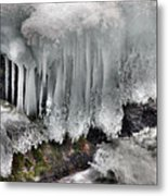 Ice Formation 2 Metal Print