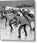 Ice Hockey, 1898 Metal Print by Granger